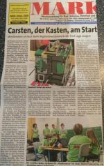Carsten, der Kasten, am Start