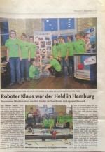Roboter Klaus war der Held in Hamburg